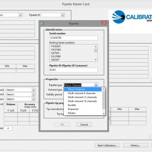 pipette calibration software